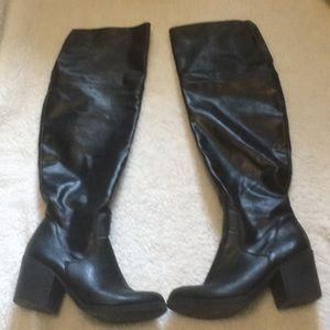 Black over the knees boots